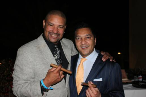 Walter WB Briggs and Rocky Patel at the Super Bowl
