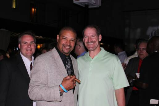 Walter WB Briggs and Bill Cowher at the Jaws Charity Event