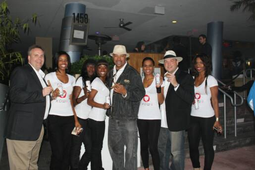 John Ost, WB, Johnny Kovar and the XOWii Energy Drink Girls at Club Proof.