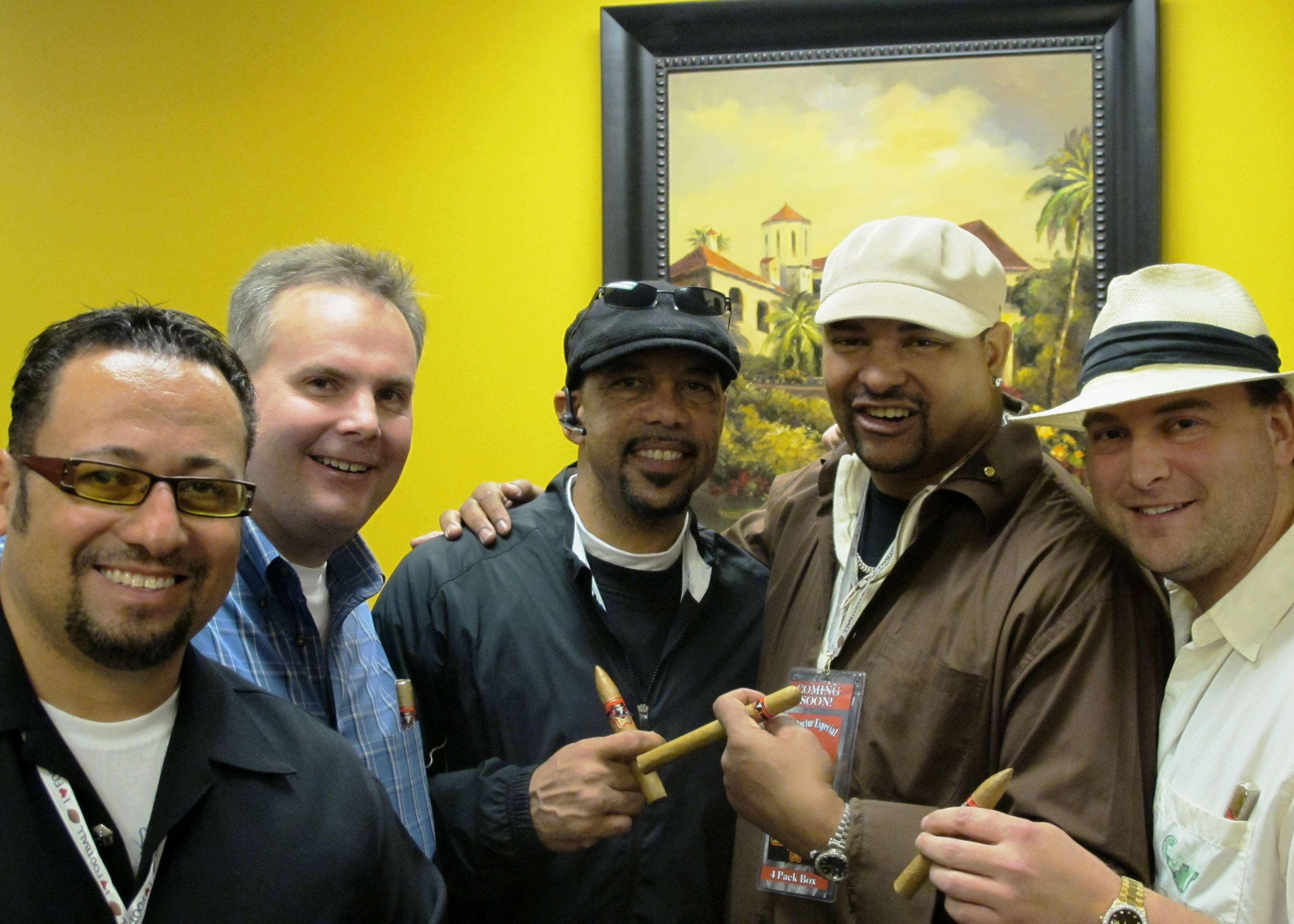 Stuart Osantowski, John Ost, Louis Lipps, Walter Briggs, and Johnny Kovar at the Bon Ton Roule Cigar Event