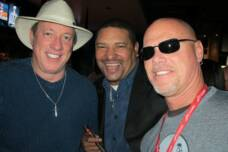 Jim Kelly, Walter Briggs, and Jim McMahon at a Super Bowl Event